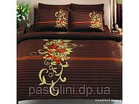 TAC евро комплект постельного белья saten Delux Siena kahve р-4245111