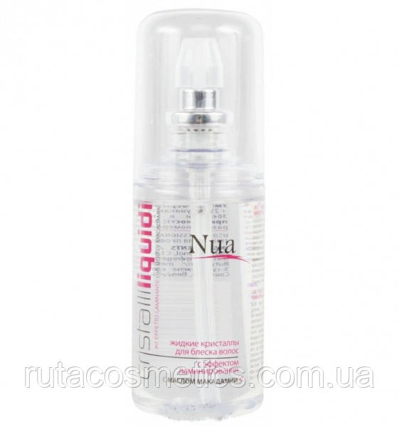 Nua Cristalli Liquidi Жидкие кристаллы для блеска волос с эффектом ламинирования с маслом макадамии