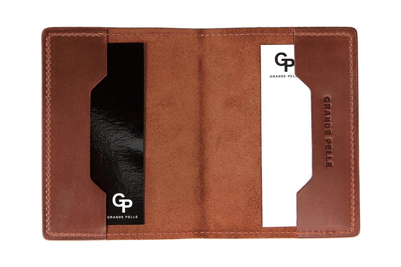 Обложка для паспорта Grande Pelle 25212305 терракота матовая