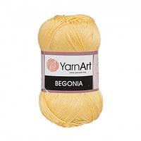Пряжа 100% хлопок YarnArt Begonia 50г /169м, цвет 4653
