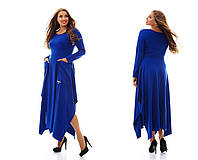 Стильное женское платье из трикотажа батал, размера 48-62