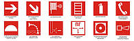 Пожарные знаки безопасности пластик, самоклейка, композит