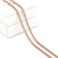 Цепочка, покрытие золотом 18К, 55 см, 3мм