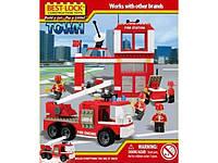 Игра-Конструктор пожарная станция, на 330 деталей от производителя BEST-LOCK
