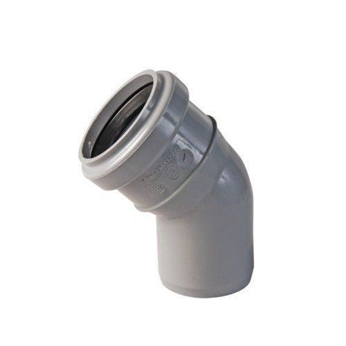 Коліно каналізаційне зовнішнє 110х45 мм