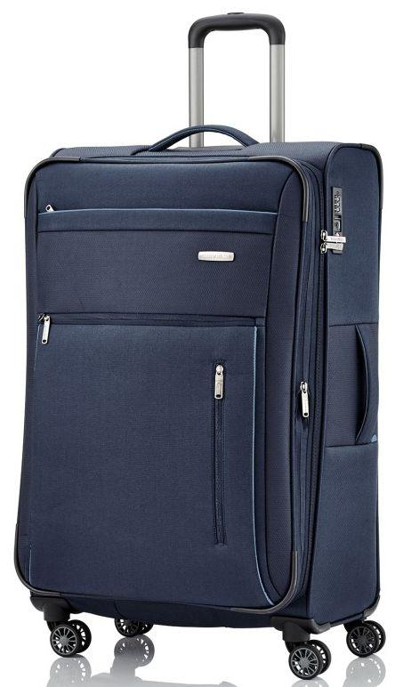 c8edf36bd6a4 Большой с расширением чемодан на 4-х колесах, на 98/111 л Travelite CAPRI L  TL089849-20 синий