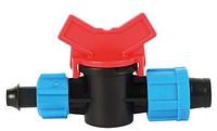 Кран стартовый для пластиковых труб с поджим. OV-0217