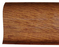 Плинтус короб глянец орех темный 2,5 м №13