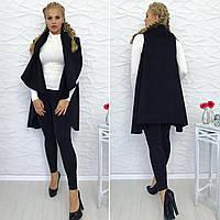 Женское кашемировое пальто-пончо большого размера. Ткань: кашемир. Размер: универсальный 50-54.
