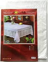Скатерть Виниловая 150х225 (Vn150b) белые розы