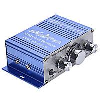 Аудіо підсилювач HY-2001 2х20Вт 12В HiFi стерео, фото 1