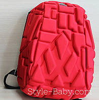 Школьный рельефный рюкзак Block ортопедическая спинка 13 л 1 отделение 25х15x35см