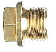 DIN 910 Пробка латунная 14х1.5 резьбовая с буртиком и шестигранником под ключ