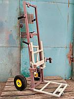Тележка подъемник для улеев с непрокалываемыми колесами. Тележка пасечная Высота 1300мм