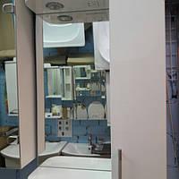 Зеркало со шкафчиком и подсветкой для ванной комнаты 50 см