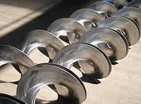 Спираль шнекового транспортера, конвейера цельная
