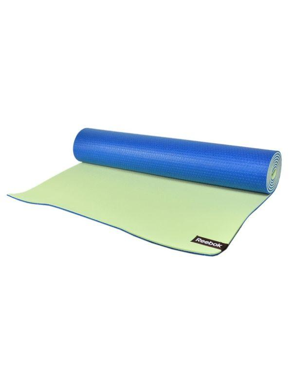 Мат для йоги двухсторонний Reebok RAYG-11060BLGN (голубой/зеленый)