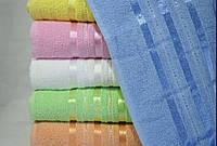 Махровые однотонные полотенца 50*90 см., 6 шт. Турция