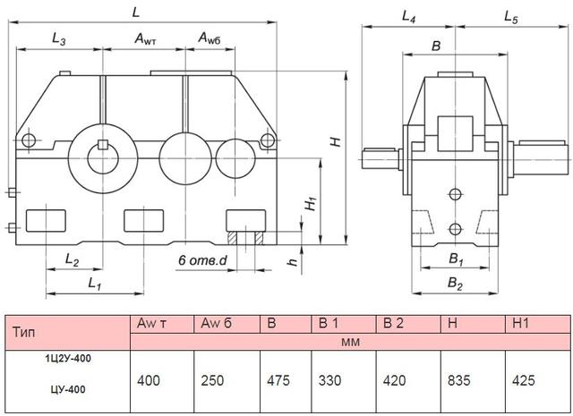 Редуктор 1Ц2У-400Н ( Ц2У-400Н )
