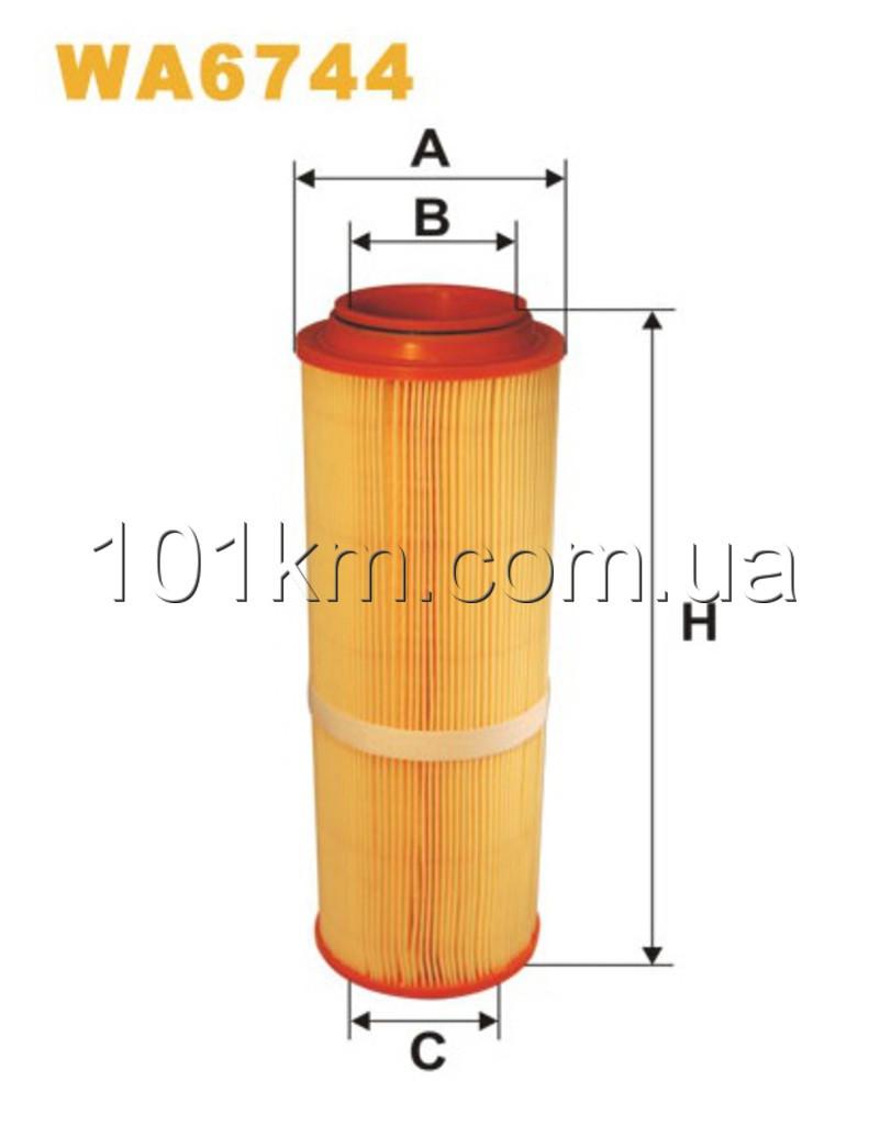 Фильтр воздушный WIX WA6744 (AR327/2)