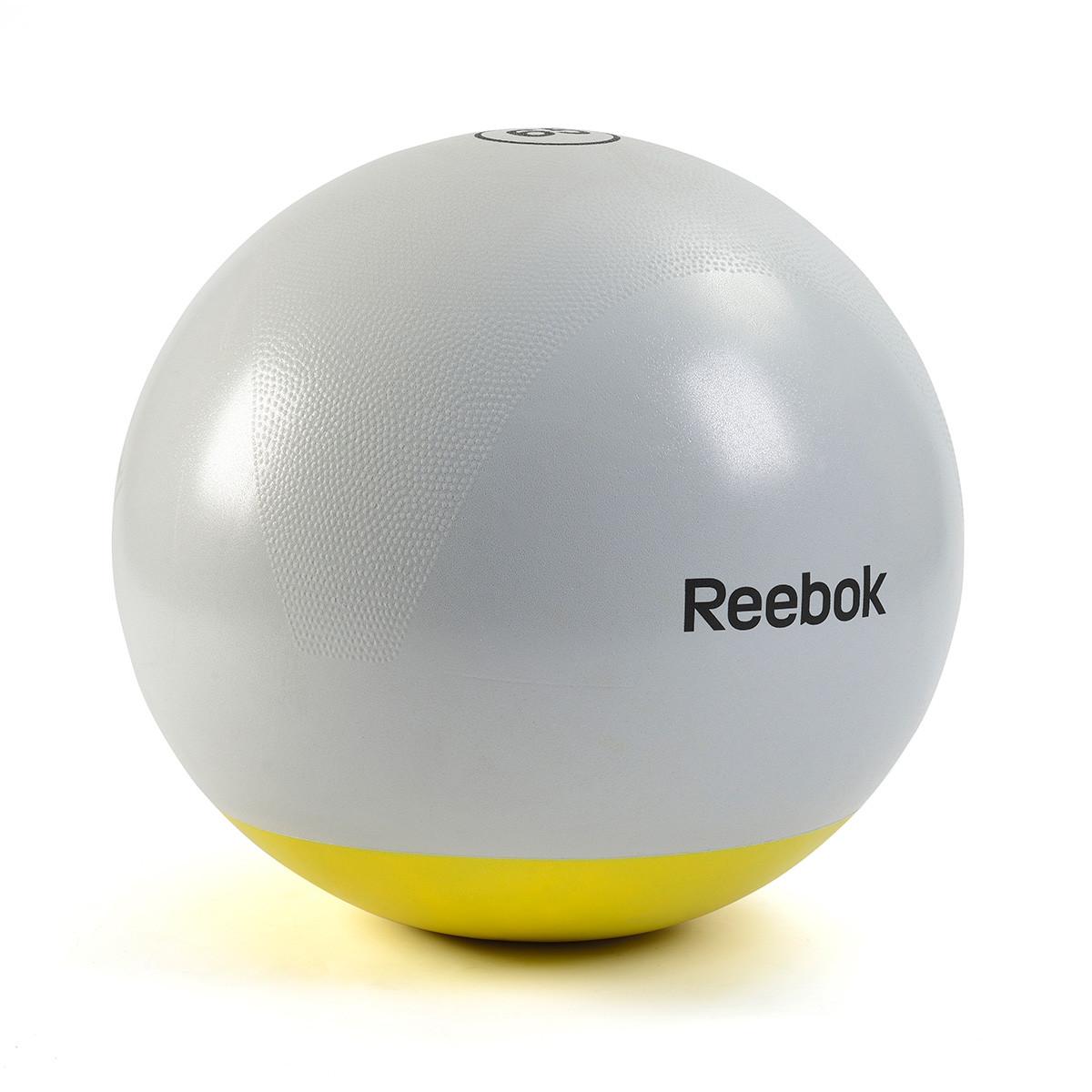 Мяч гимнастический Reebok RSB-10017 - 75 см серый/желтый
