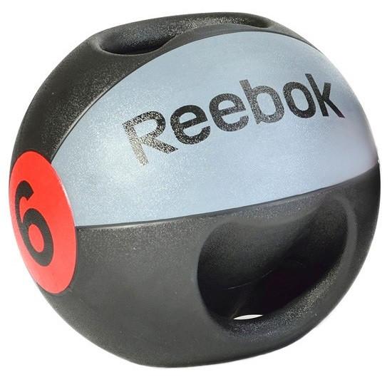 Медбол с двумя ручками Reebok RSB-10126 - 6 кг