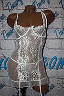 Белое эротическое платье