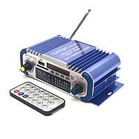 HiFi мини стерео 2-х канальный усилитель HY-601, USB, MP3, FM, фото 1