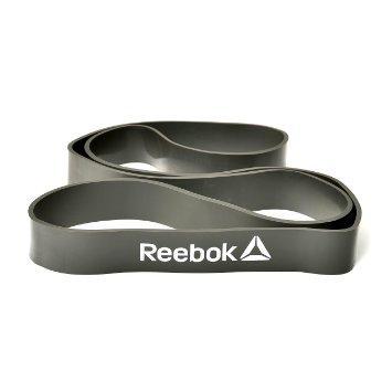 Резиновый эспандер для кросфита Reebok RSTB-10081 серый, 2 уровень сопротивления (ФИТНЕС)
