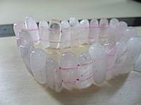 Браслет - природный розовый кварц. Браслет с кварцем. Безразмерный!