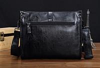 Мужская кожаная сумка. Модель 61266, фото 5
