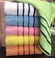 Махровые однотонные полотенца 50*90 см., 12 шт. Турция