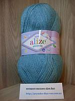 Детская пряжа(100%-акрил,100г/320м) Alize Sekerim bebe 124(лазурный)