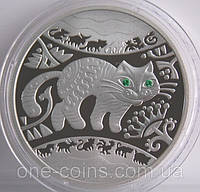 Монета Украины 5 грн. 2011 г. Год Кота (Кролика, Зайца), фото 1