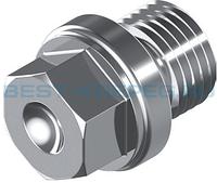 DIN 910 Пробка резьбовая 10х1 из нержавеющей стали с буртиком и шестигранником под ключ