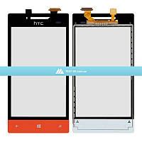 Тачскрин (сенсор) HTC A620e Windows Phone 8S | оранжевый