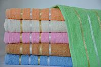 Махровые однотонные полотенца 70*140 см., 6 шт. Турция