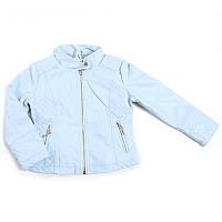 """Куртка кож-зам для дівчинки """"Happy house"""" (Зріст 128, Блакитний)"""