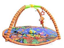 Детский коврик с погремушками на дуге Сафари