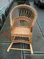 Крісло-гойдалка з лози, фото 1