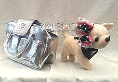 Собачка мягкая интерактивная с сумкой Kikki