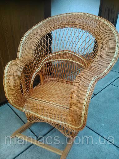 Кресло-качалка из лозы