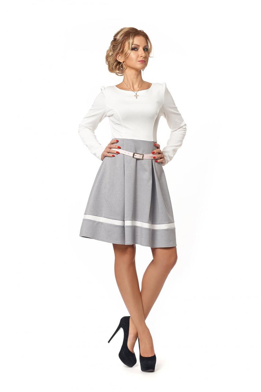 Контрастное женское платье