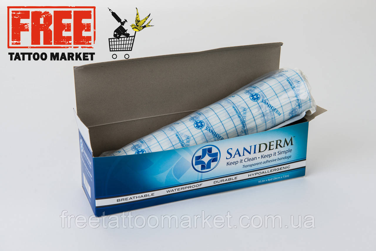 Заживляющая пленка для тату SANIDERM (размер 100х26см)