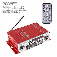 HiFi мини стерео 2-х канальный усилитель HY-602, USB, MP3, FM, фото 1
