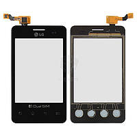 Тачскрин (сенсор) LG E405 Optimus L3 | Оригинал | черный