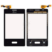Тачскрин (сенсор) LG E400 Optimus L3 | Оригинал | черный