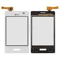 Тачскрин (сенсор) LG E425 Optimus L3 II | Оригинал | белый
