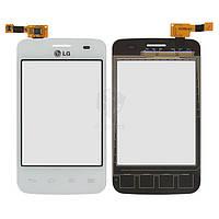 Тачскрин (сенсор) LG E435 Optimus L3 II | Оригинал | белый