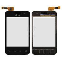 Тачскрин (сенсор) LG E435 Optimus L3 II | Оригинал | черный